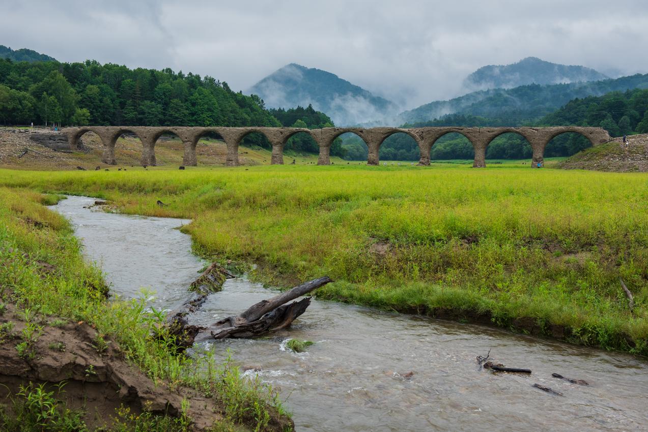 2019.8.10 北海道上士幌町 糠平湖 タウシュベツ川橋梁