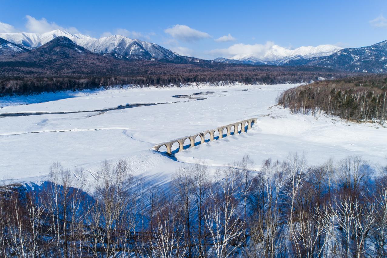 2019.2.27 上士幌町糠平湖 タウシュベツ川橋梁