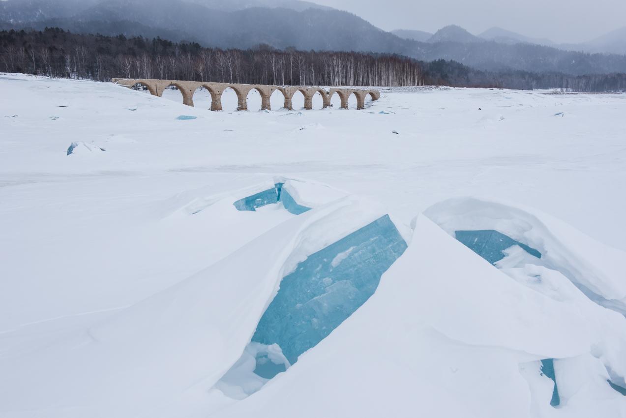 2019.2.13 上士幌町糠平湖 タウシュベツ川橋梁