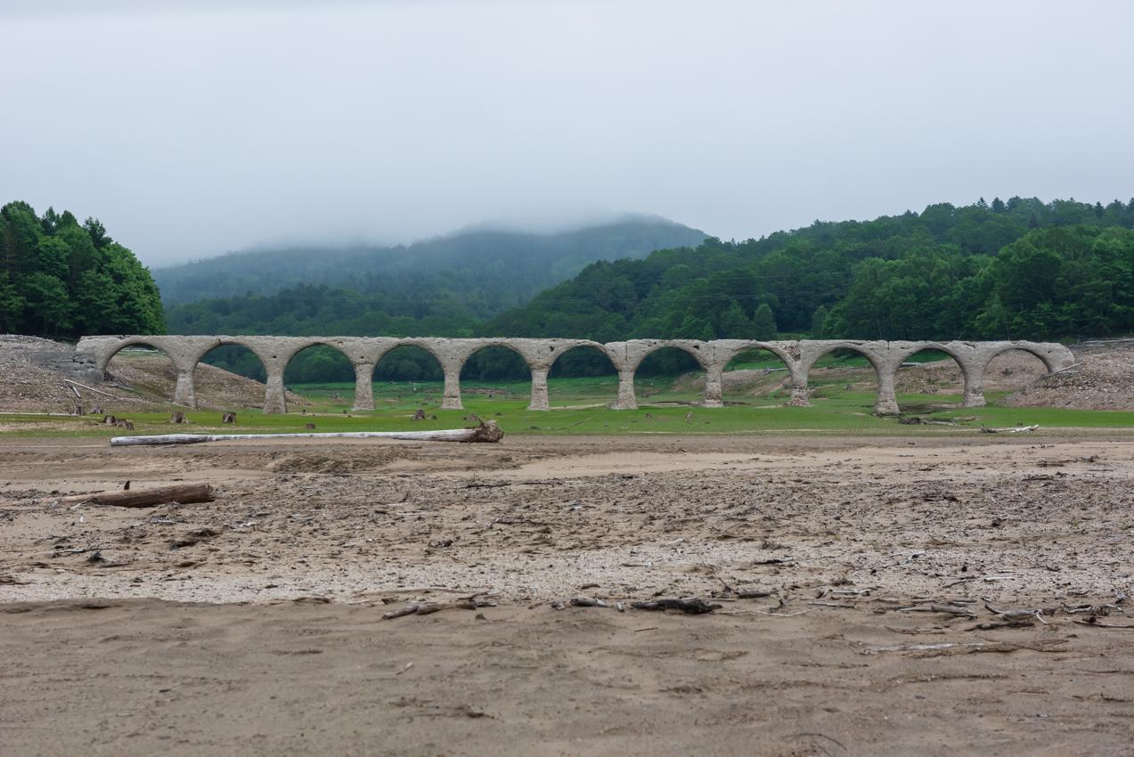 2019.7.1 北海道上士幌町 糠平湖 タウシュベツ川橋梁