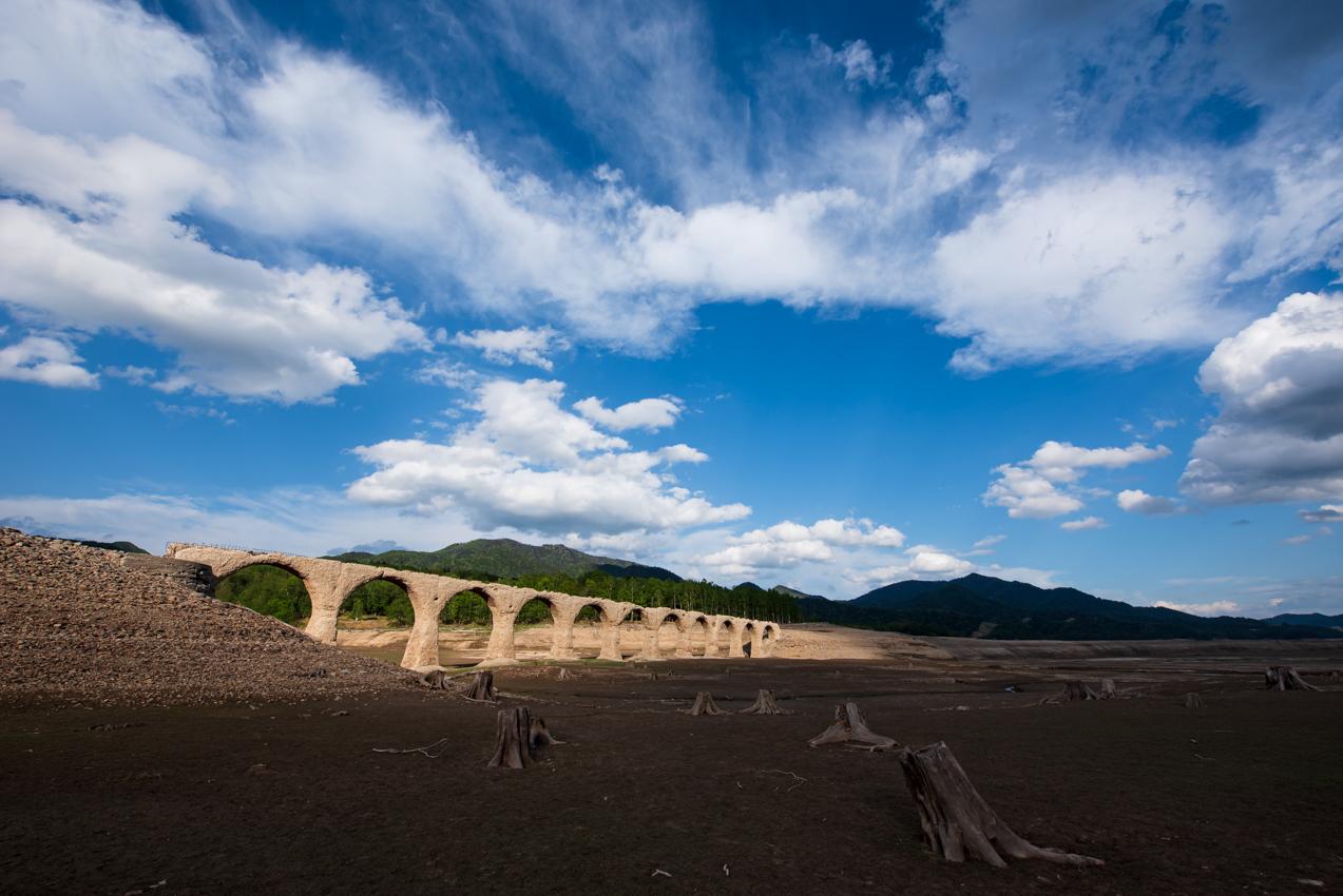2019.6.1 北海道上士幌町糠平 タウシュベツ川橋梁