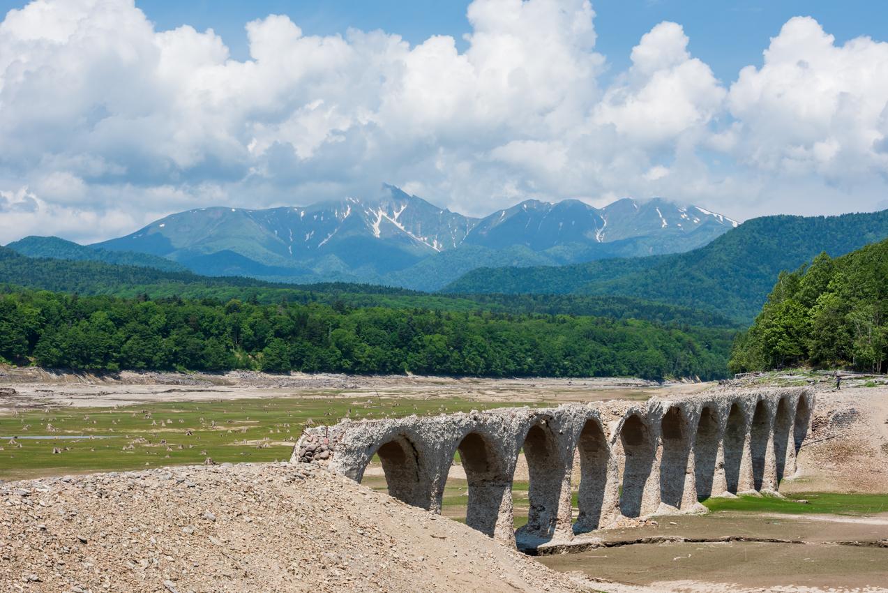 2019.6.21 北海道上士幌町 糠平湖 タウシュベツ川橋梁
