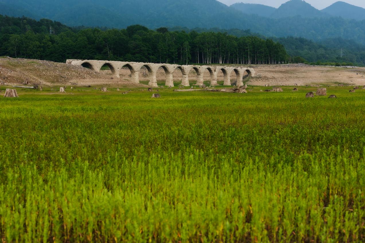 2019.7.11 北海道上士幌町 糠平湖 タウシュベツ川橋梁