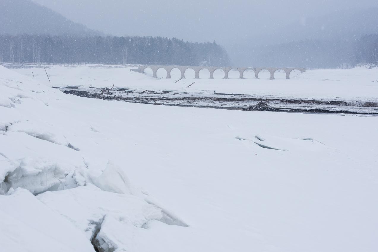 2019.3.6 上士幌町糠平湖 タウシュベツ川橋梁