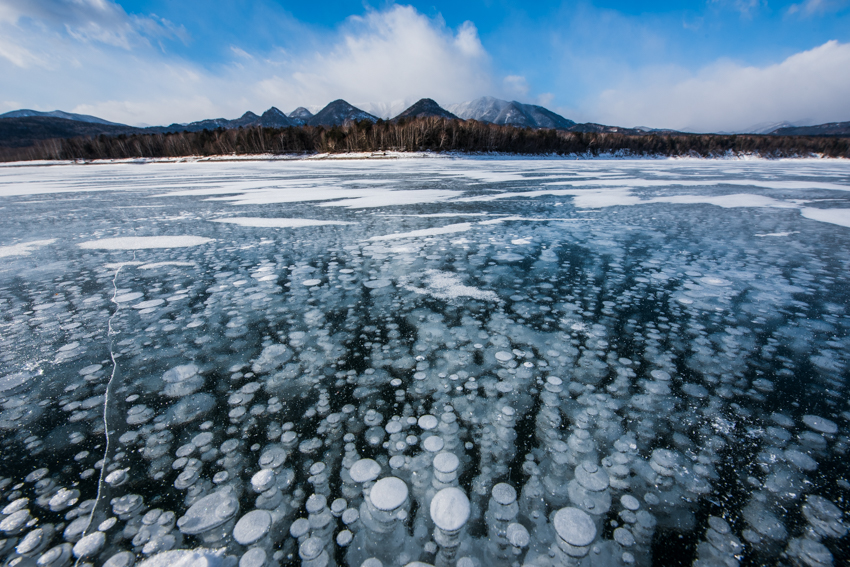 2019年1月9日の糠平湖の様子