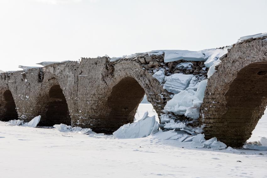 2019年1月9日のタウシュベツ川橋梁