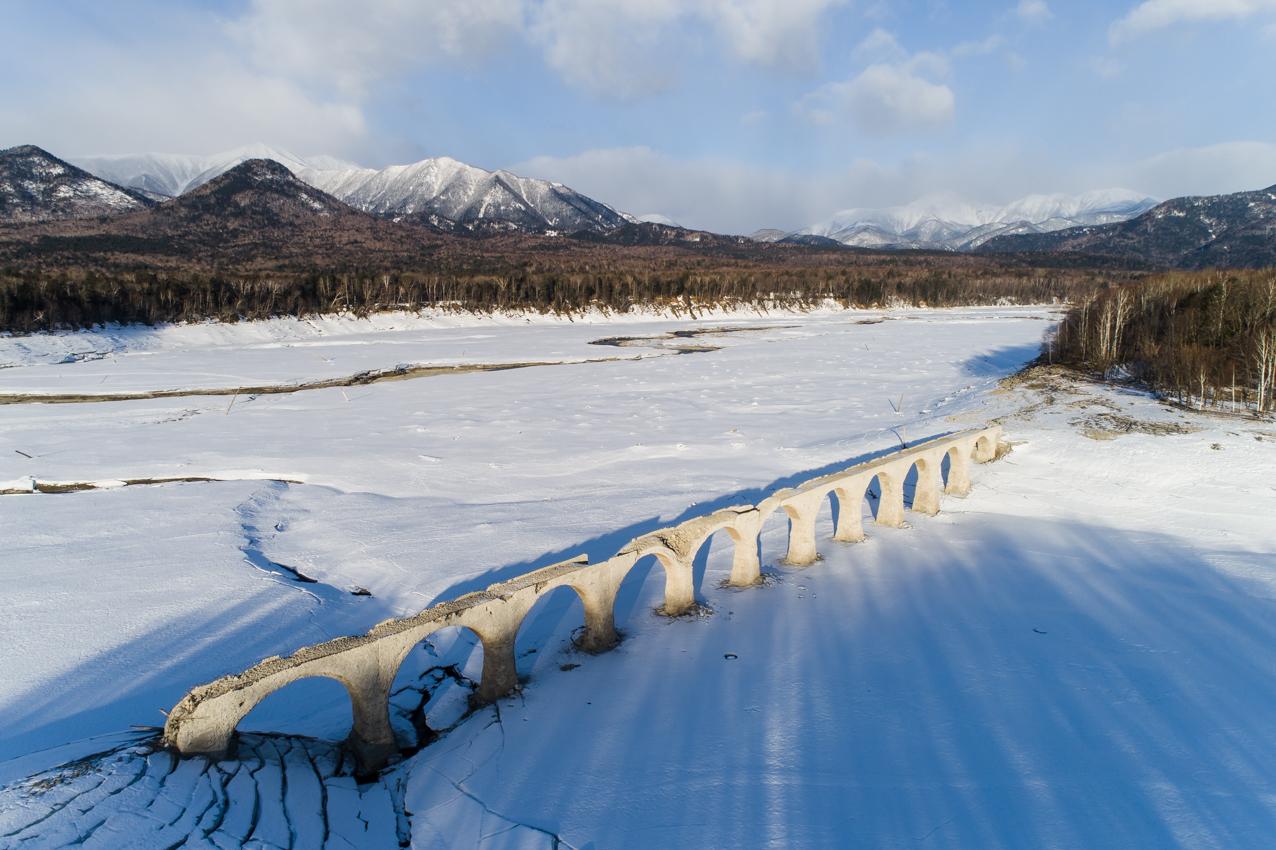 2019.3.23 上士幌町糠平湖 タウシュベツ川橋梁