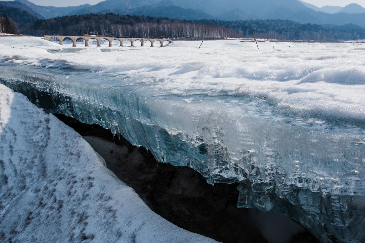 2019.3.10 上士幌町糠平湖 タウシュベツ川橋梁