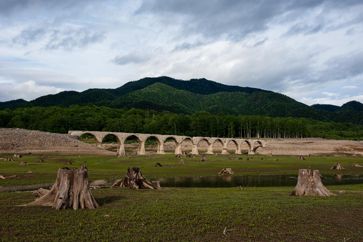 2019.6.17 北海道上士幌町 糠平湖 タウシュベツ川橋梁