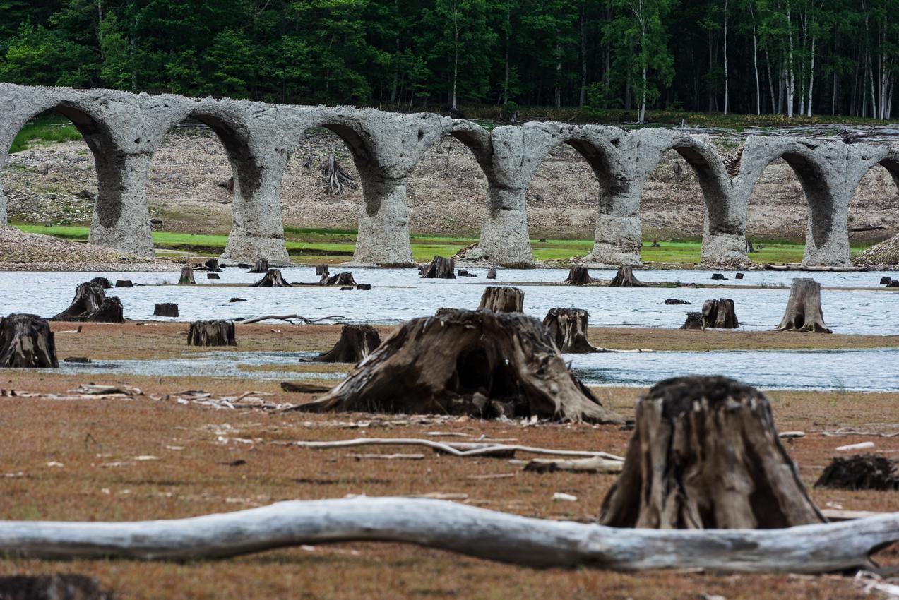 久々に、間近のタウシュベツ川橋梁