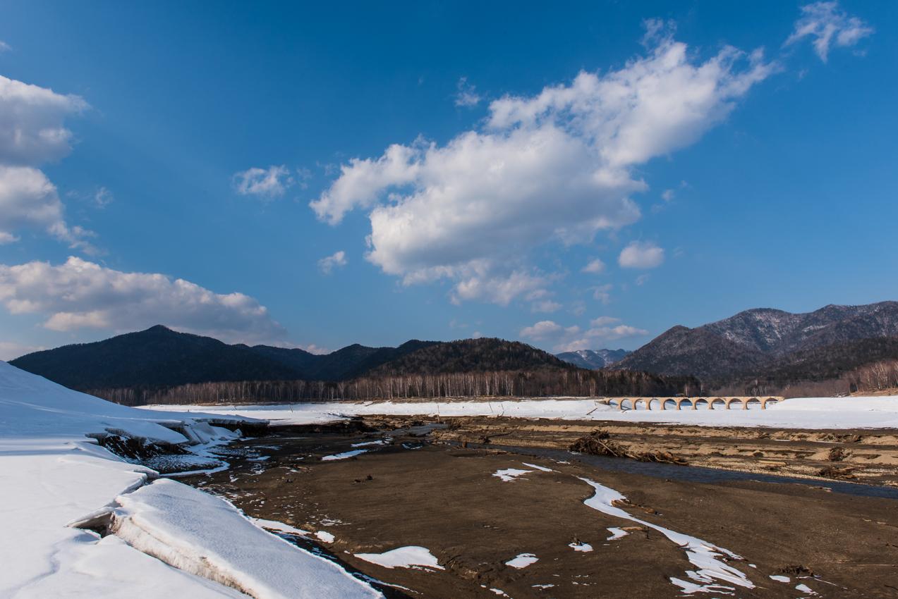 2019.3.18 上士幌町糠平湖 タウシュベツ川橋梁
