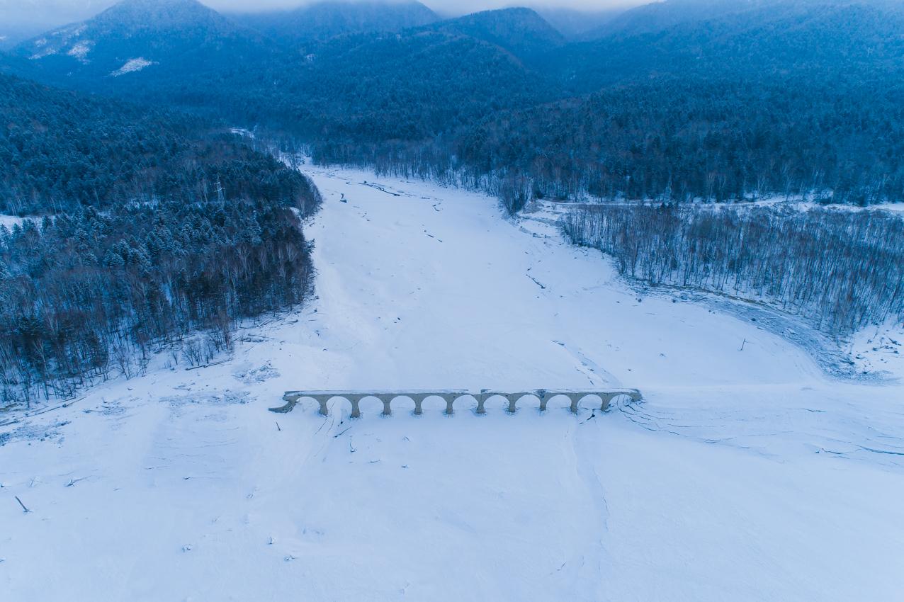 2019.3.5 上士幌町糠平湖 タウシュベツ川橋梁
