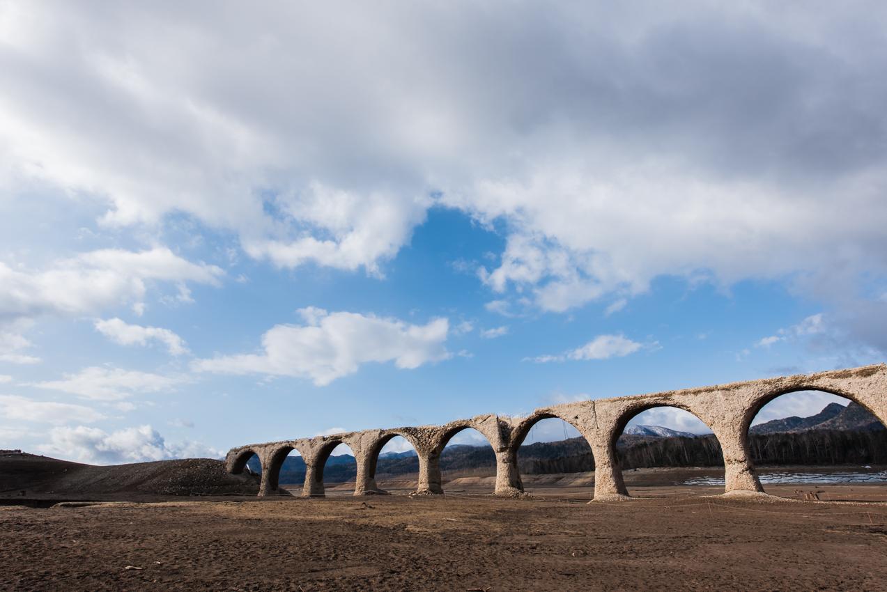 2019.5.2 上士幌町糠平 糠平湖 タウシュベツ川橋梁