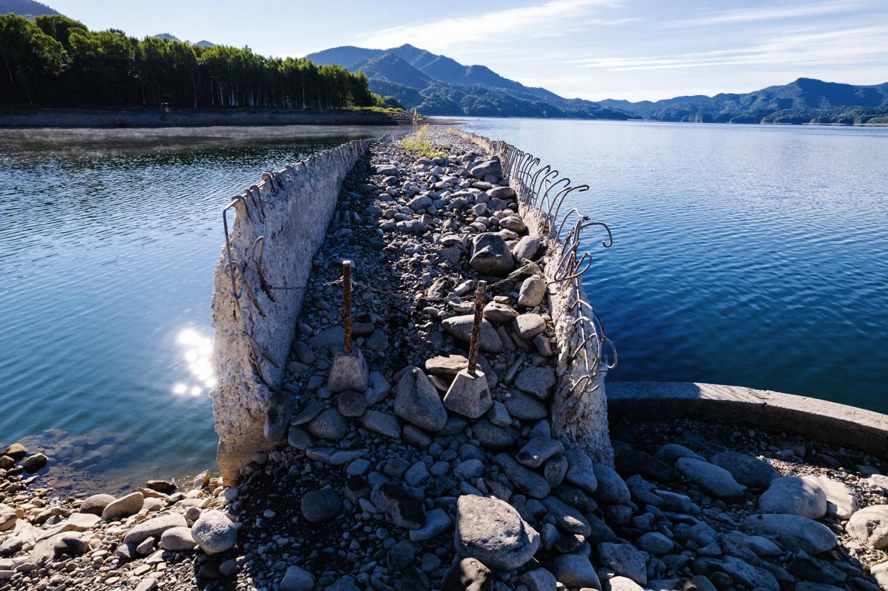 糠平湖の水位はさらに低下中