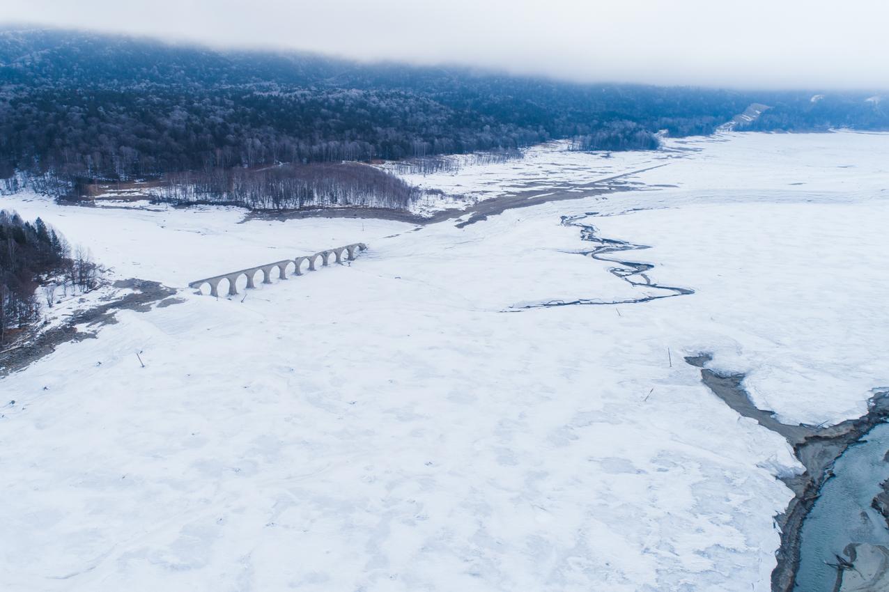 2019.3.13 上士幌町糠平湖 タウシュベツ川橋梁