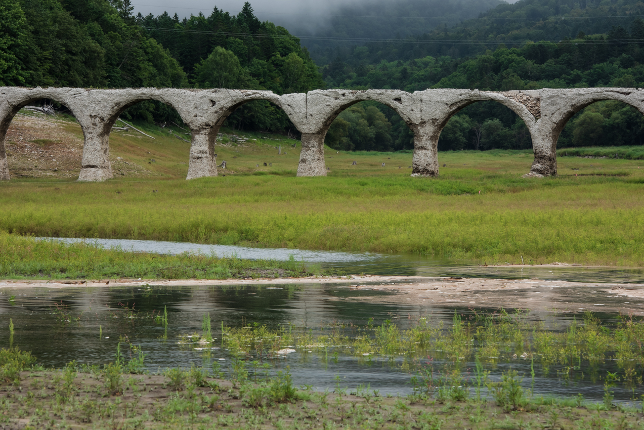 2019. 8.19北海道上士幌町 糠平湖 タウシュベツ川橋梁