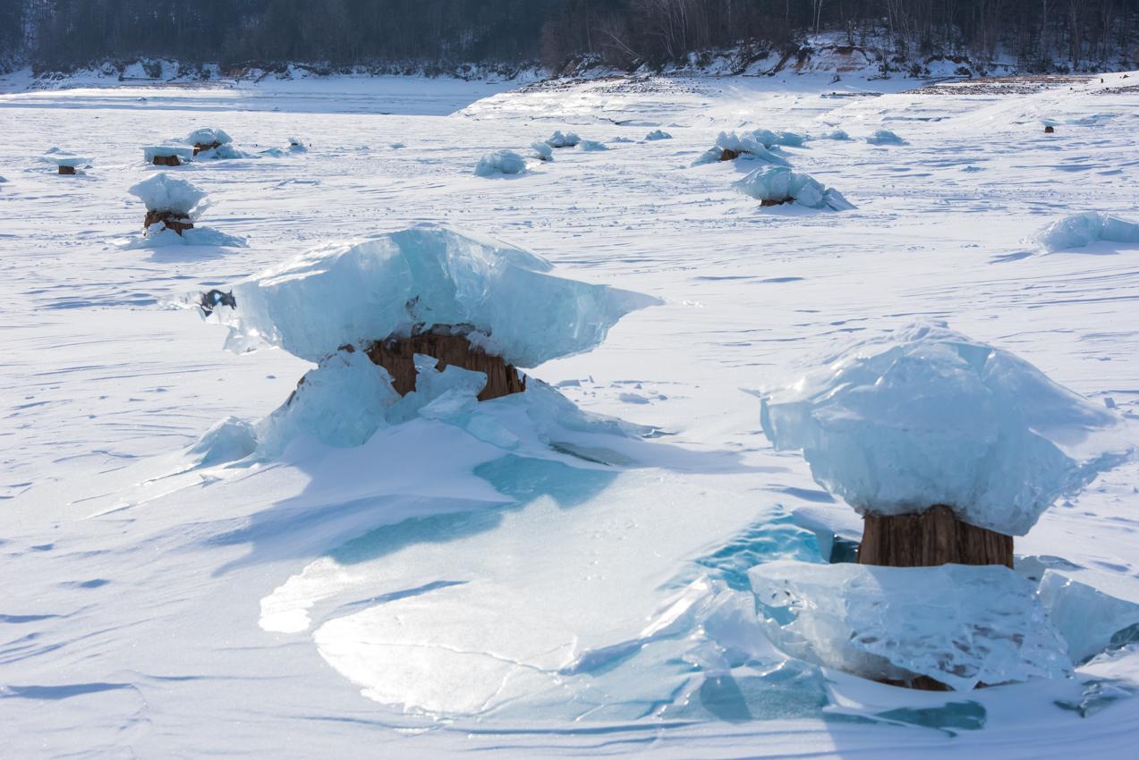 2019.2.14 上士幌町糠平湖 キノコ氷またはアイスクラウン