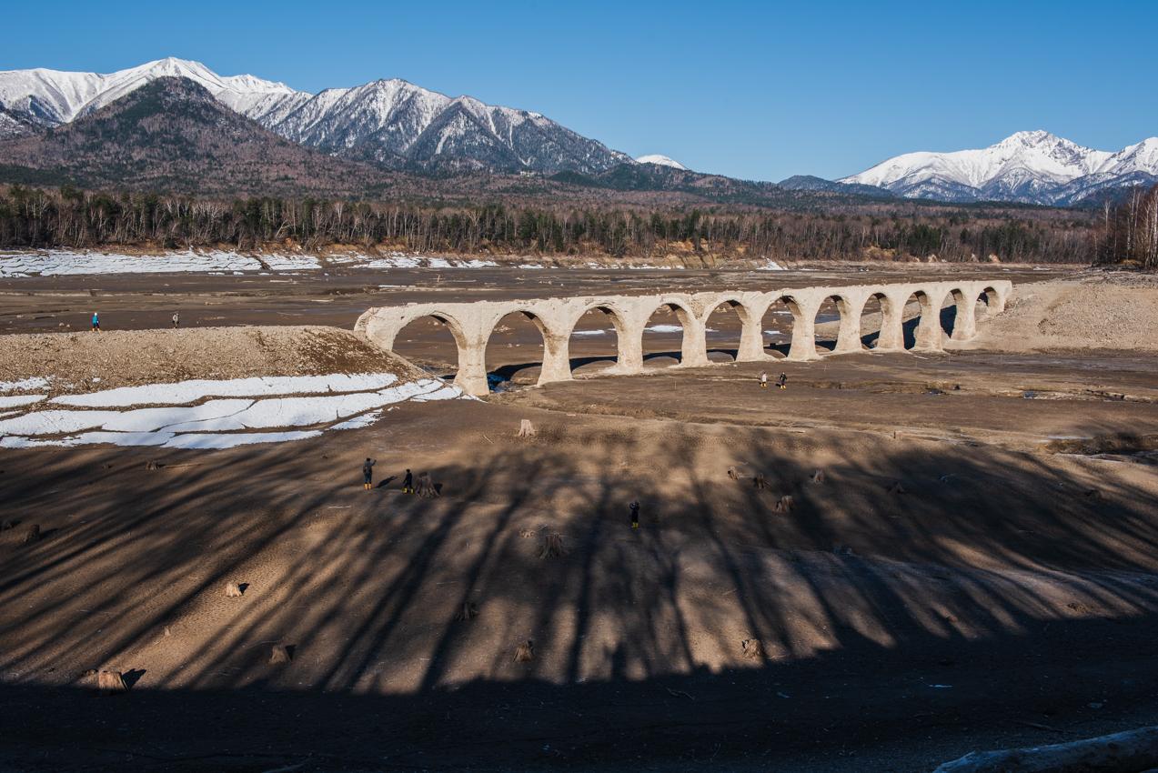 2019.4.28 上士幌町糠平 糠平湖 タウシュベツ川橋梁