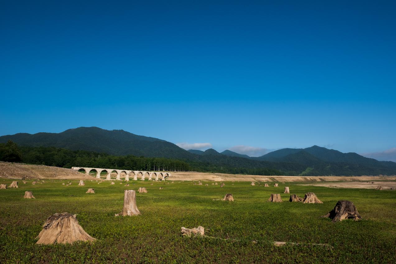 2019.7.8 北海道上士幌町 糠平湖 タウシュベツ川橋梁