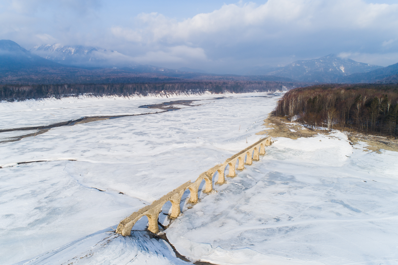 2019.3.20 上士幌町糠平湖 タウシュベツ川橋梁
