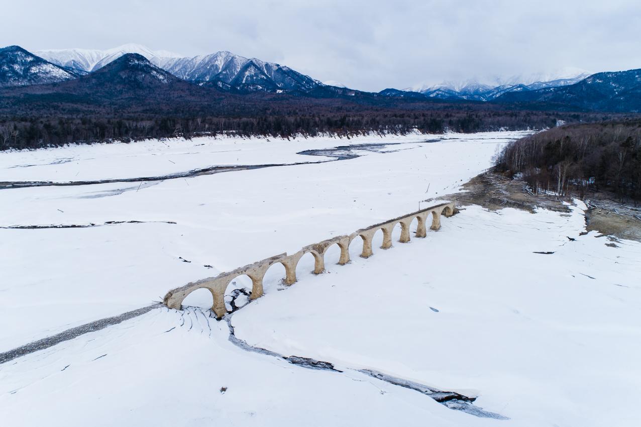 2019.4.9 上士幌町糠平 タウシュベツ川橋梁
