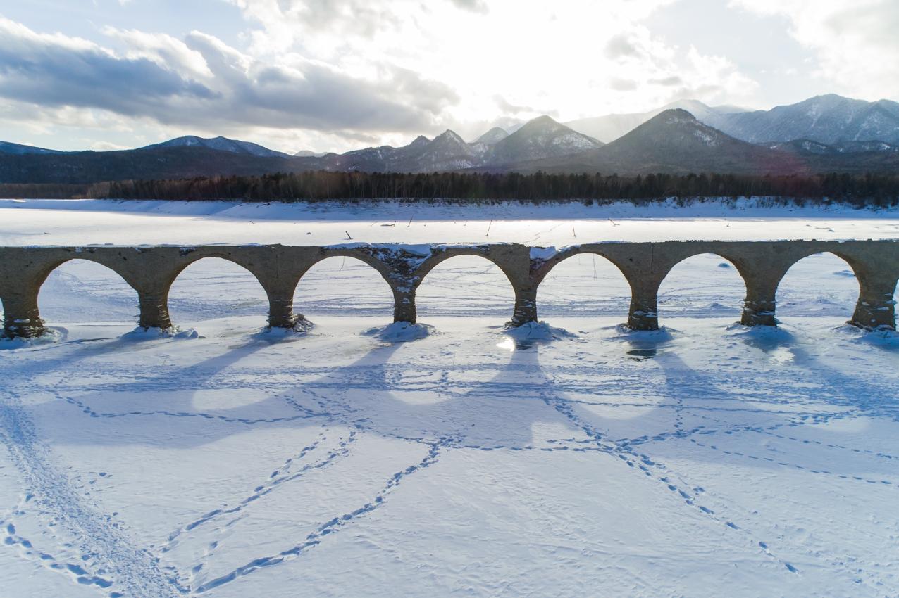 2019.2.11 上士幌町糠平湖 タウシュベツ川橋梁