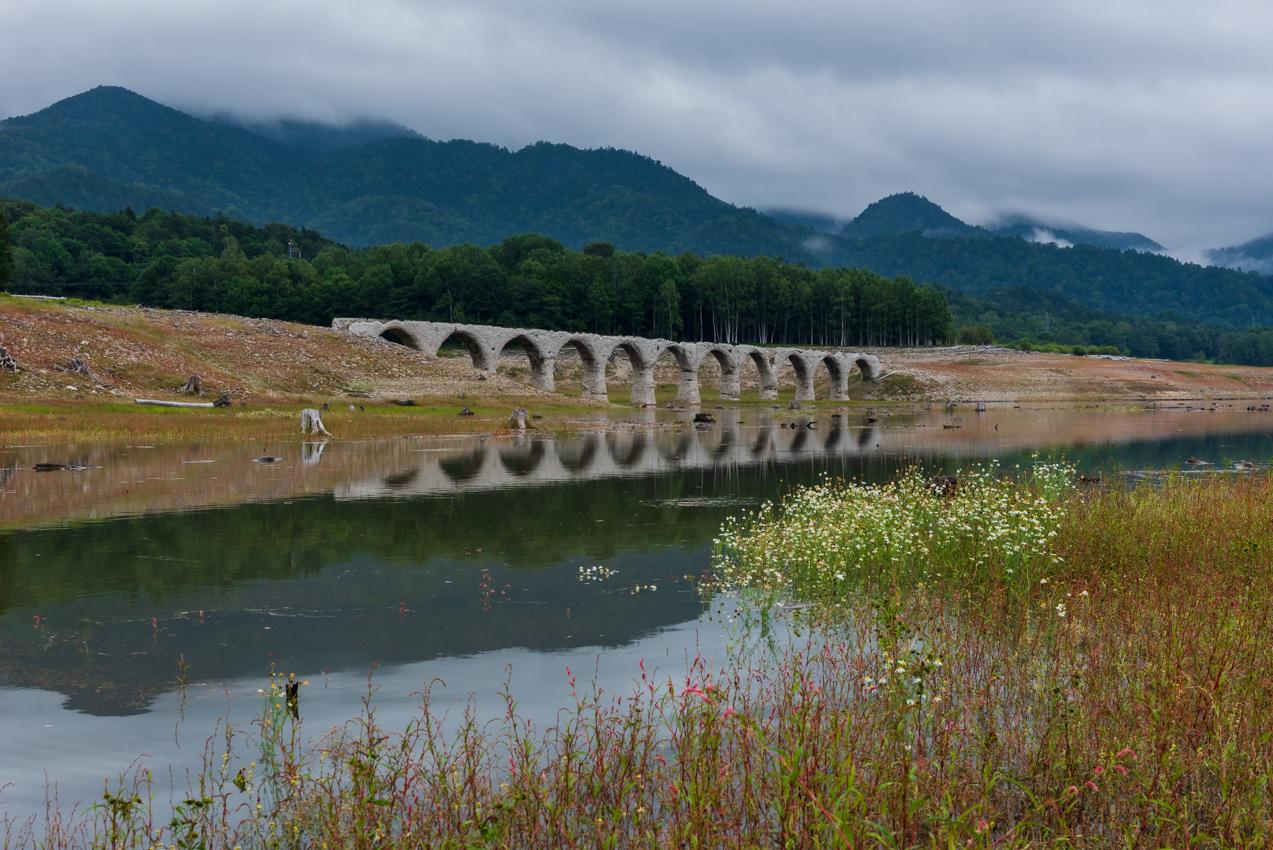 2019. 8.28 北海道上士幌町 糠平湖 タウシュベツ川橋梁