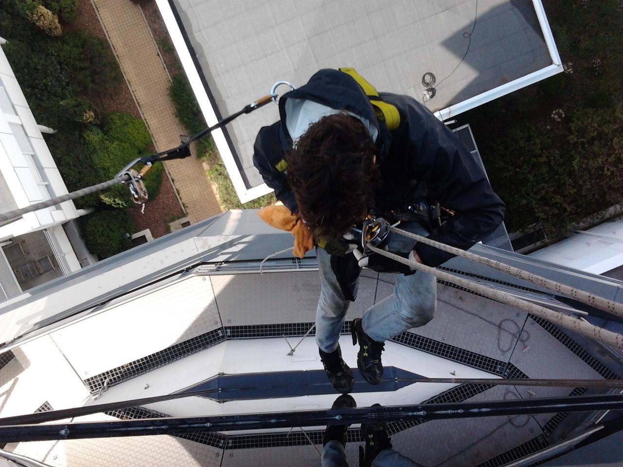 cordiste nettoyage de vitre