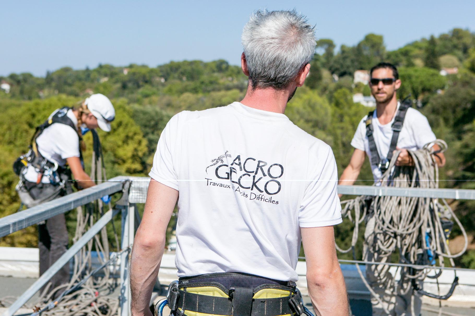 cordiste Montpellier acro gecko