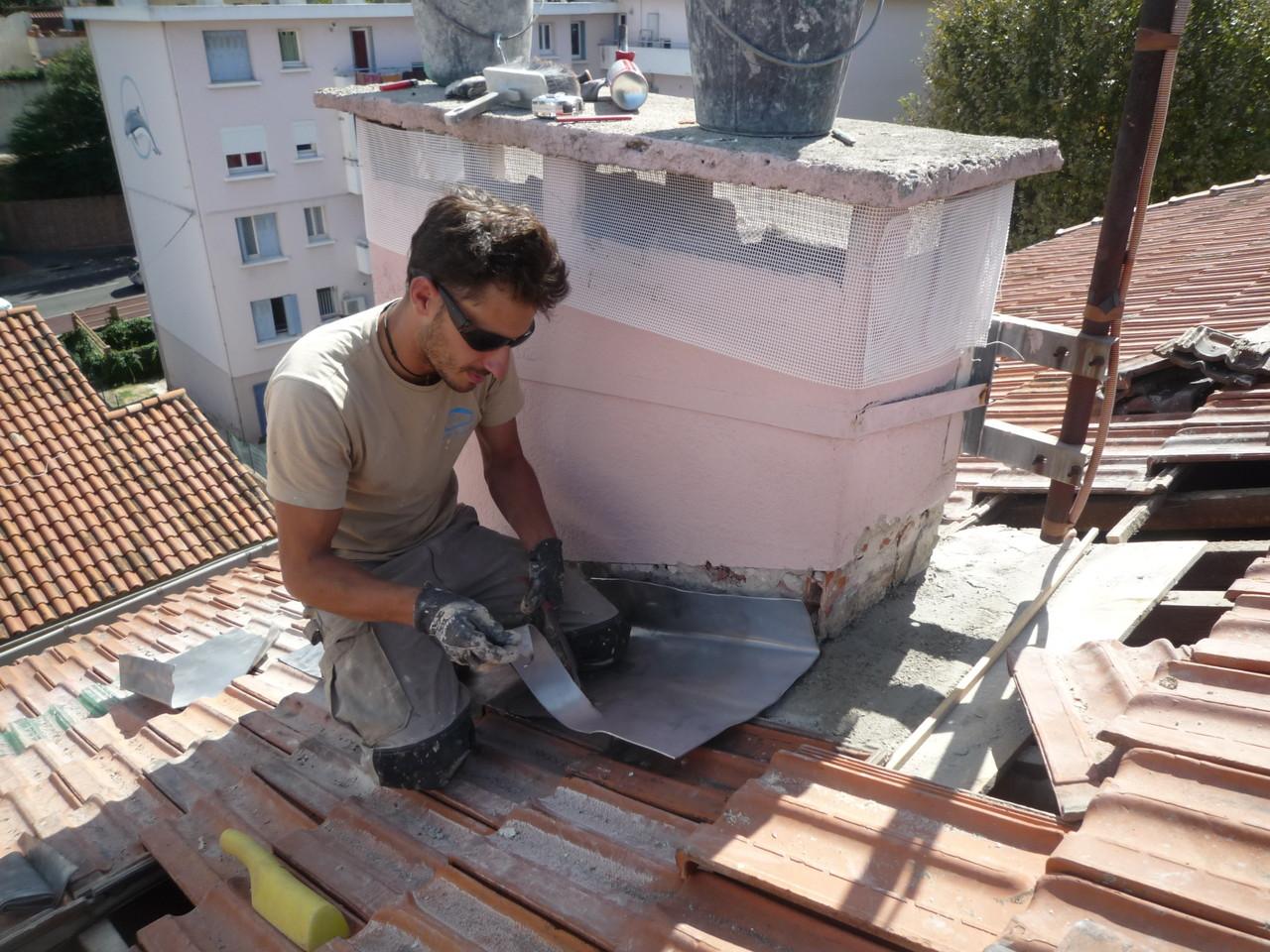 contour cheminée travaux hauteur Montpellier acro geko