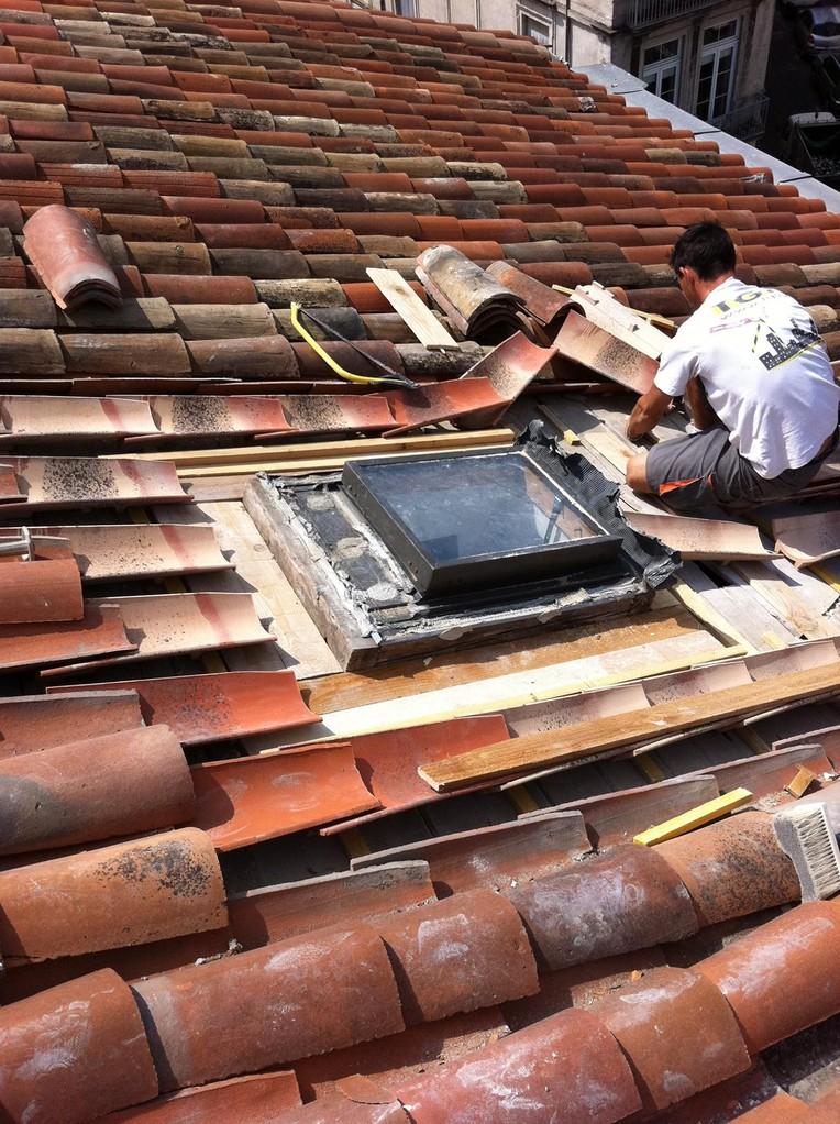 travaux toiture accès difficile