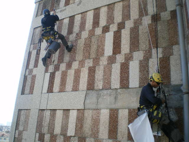 travaux sur cordes Hérault accro gecko