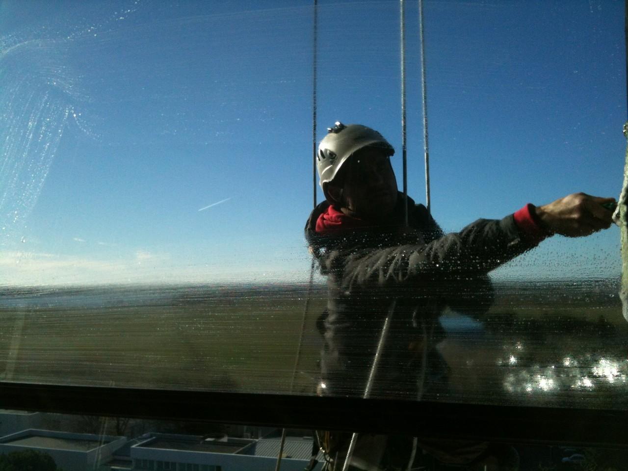 vitre hauteur nettoyage Hérault cordiste