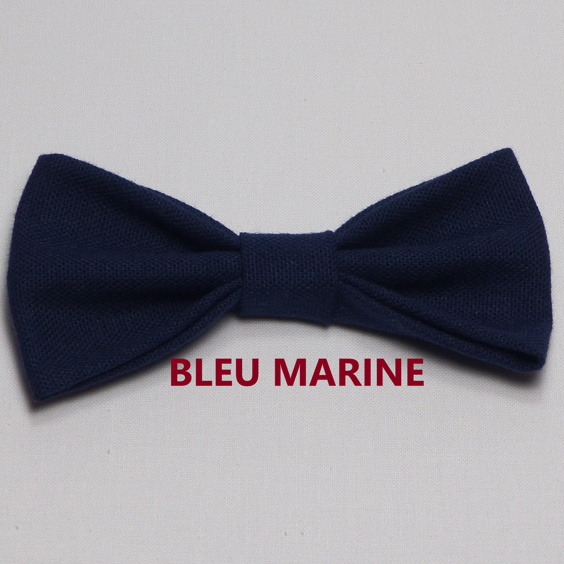 Noeud Papillon Mariage Bleu Marine