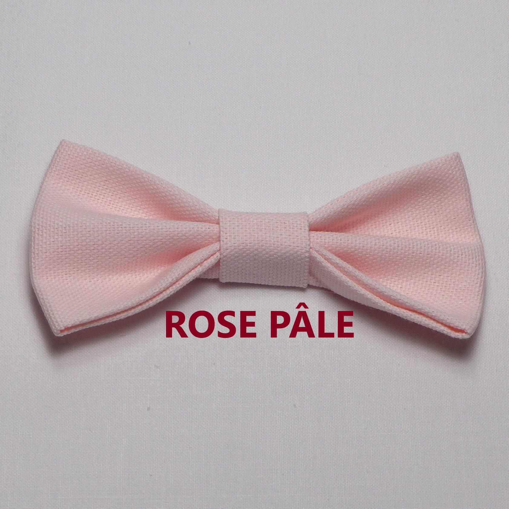 Noeud Papillon Mariage Rose Pâle