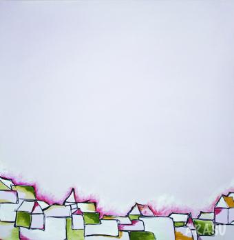 Acrylique sur toile, 80x80cm, 2011, Non disponible. (18)