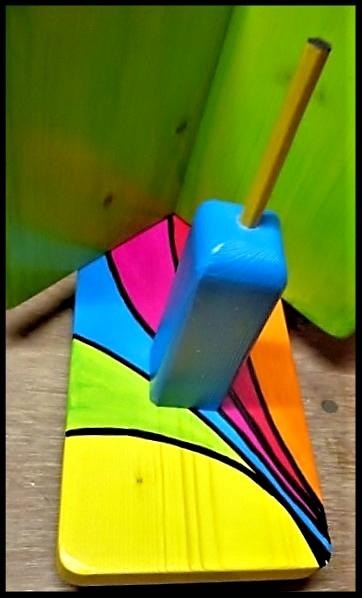 """Detail  Pindakaas pot houder """"Regenboog- Collectie""""_8"""
