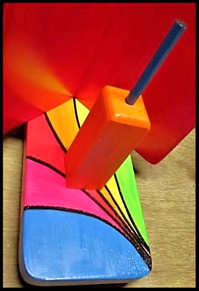 """Detail  Pindakaas pot houder """"Regenboog- Collectie""""_4"""