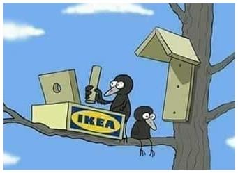 Vogelhuisje IKEA als grap