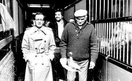 November 1979 - Hoher Besuch im  Reitclub Speyer von Weltmeister und Olympiasieger Hans Günter Winkler (links).