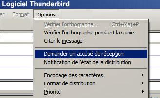 Accusé réception Thinderbird