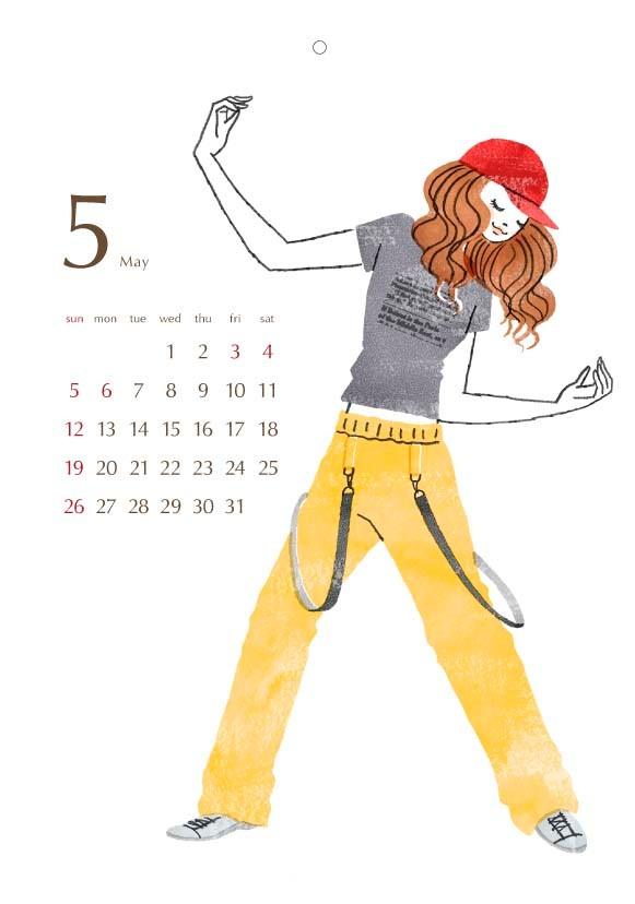 2013 カレンダー 5月