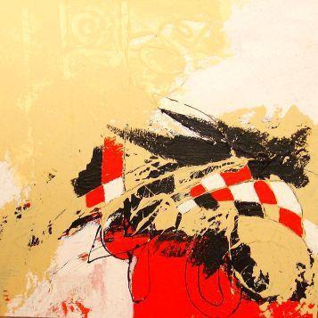Nr. 428 / o.T. / 60 cm x  60 cm / Acryl auf Leinwand