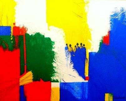 """Nr. 276  / """"Gemeinsam"""" / 100 cm x 80cm / Acryl auf Leinwand"""
