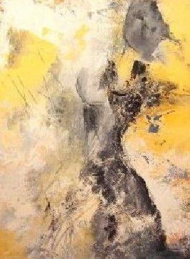 """Nr. 291 / """"Tanz auf dem Vulkan"""" /  60 cm x 80 cm /  Acryl auf Leinwand"""