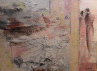 """Nr. 422 / """"Zuneigung"""" /  60 cm x 80 cm / Acryl auf Leinwand"""