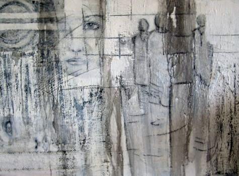 """Nr. 395 / """"Winterluft"""" /  80 cm x 60 cm / Acryl auf Leinwand"""