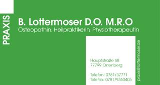 B. Lottermoser D.O. M.R.O. • Osteopathin •Heilpraktikerin • Physiotherapeutin
