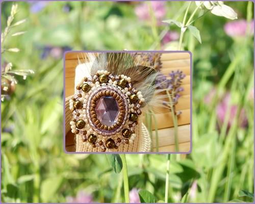 Flora - Bracciale in maglia di seta - Armreif aus Seidenstrick