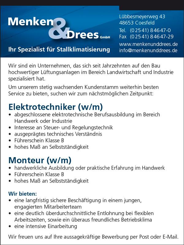 Stellenangebote Menken & Drees Coesfeld